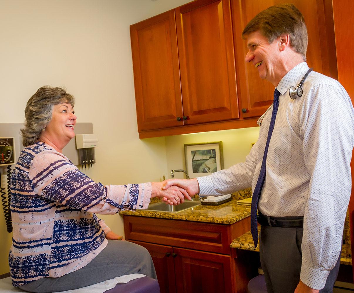 Dr Koop with Patient   Dr. Hermes Koop M.D. F.A.C.P